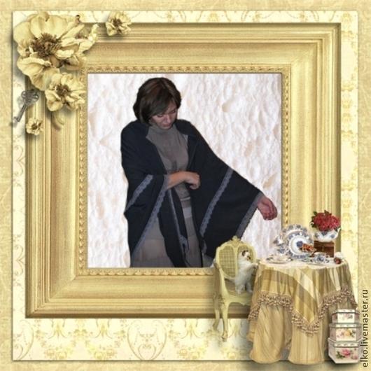 Шали, палантины ручной работы. Ярмарка Мастеров - ручная работа. Купить Платок  для романтической барышни. Handmade. Серый, платок