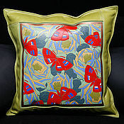 Для дома и интерьера handmade. Livemaster - original item BUTTERFLY cushion leather. Handmade.