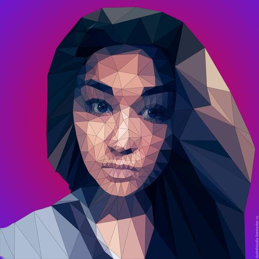Полигональный портрет (портрет в стиле Low Poly)