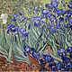 """Картины цветов ручной работы. Ярмарка Мастеров - ручная работа. Купить """"Ирисы"""" Винсент ван Гог. Handmade. Тёмно-синий"""