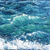 Картины и панно handmade. Livemaster - original item Oil painting Sea waves, Sea. Handmade.