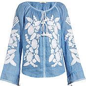 Одежда ручной работы. Ярмарка Мастеров - ручная работа Вышитая блузка из льна. Льняная блузка. Эксклюзивная блузка с вышивко. Handmade.