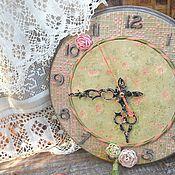 """Для дома и интерьера ручной работы. Ярмарка Мастеров - ручная работа Часы """"Moustiers - Sainte - Marie"""". Handmade."""