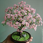 Деревья ручной работы. Ярмарка Мастеров - ручная работа Дерево из бисера Сакура Розовое облако. Handmade.