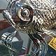 Набор столового серебра для икры из трех предметов `Рыбка`. Прекрасный подарок на Юбилей, серебряную свадьбу или другое торжество. Серебряные ложки Скоблинского.