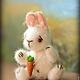 Мишки Тедди ручной работы. Зайчонок Кроля. Сказка рядом. Интернет-магазин Ярмарка Мастеров. Белый, пушистый, малыш, миник