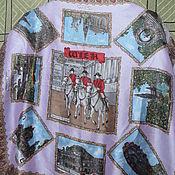 Винтаж handmade. Livemaster - original item Handkerchief Hussars,silk,vintage Europe. Handmade.