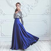 Одежда ручной работы. Ярмарка Мастеров - ручная работа Синяя юбка-макси.. Handmade.