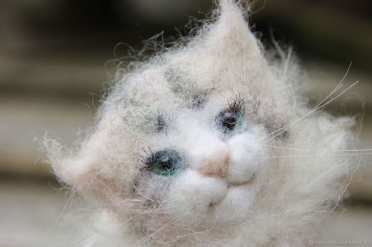 Игрушки животные, ручной работы. Ярмарка Мастеров - ручная работа. Купить Кошечка мама и котеночек-ребеночек. Handmade. Кошечка