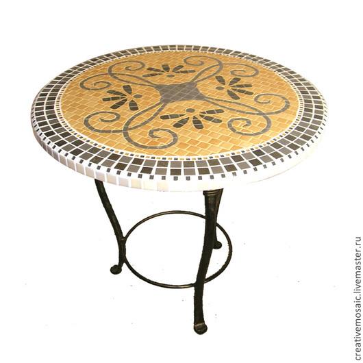 """Мебель ручной работы. Ярмарка Мастеров - ручная работа. Купить Стол обеденный """"Магия серебра"""". Handmade. Разноцветный, мозайка"""
