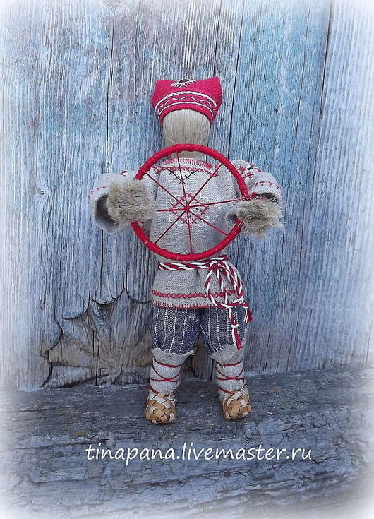 """Народные куклы ручной работы. Ярмарка Мастеров - ручная работа. Купить """"Спиридон-солнцеворот"""". Handmade. Кукла-оберег"""