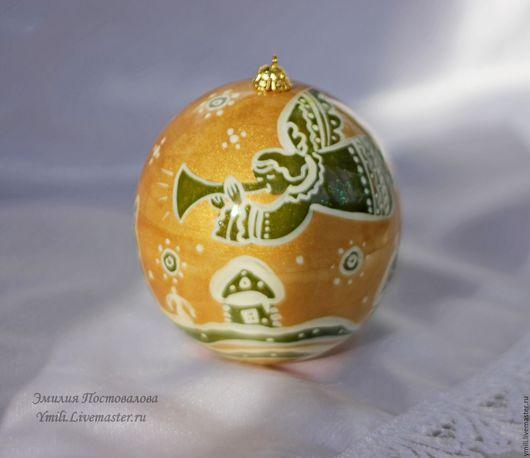 Шар из дерева, открывается как шкатулка, матрешка. Новогоднее елочное украшение. Подарок на память. Новый год 2017. Небьющиеся елочные игрушки. Новогодний подарок.