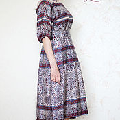 Одежда handmade. Livemaster - original item Slavic dress from natural silk. Handmade.
