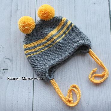 Clothing handmade. Livemaster - original item The hat is double of Merino. Handmade.