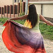 Одежда ручной работы. Ярмарка Мастеров - ручная работа Принцесса Урожая, валяное платье в технике нунофелтинг. Handmade.