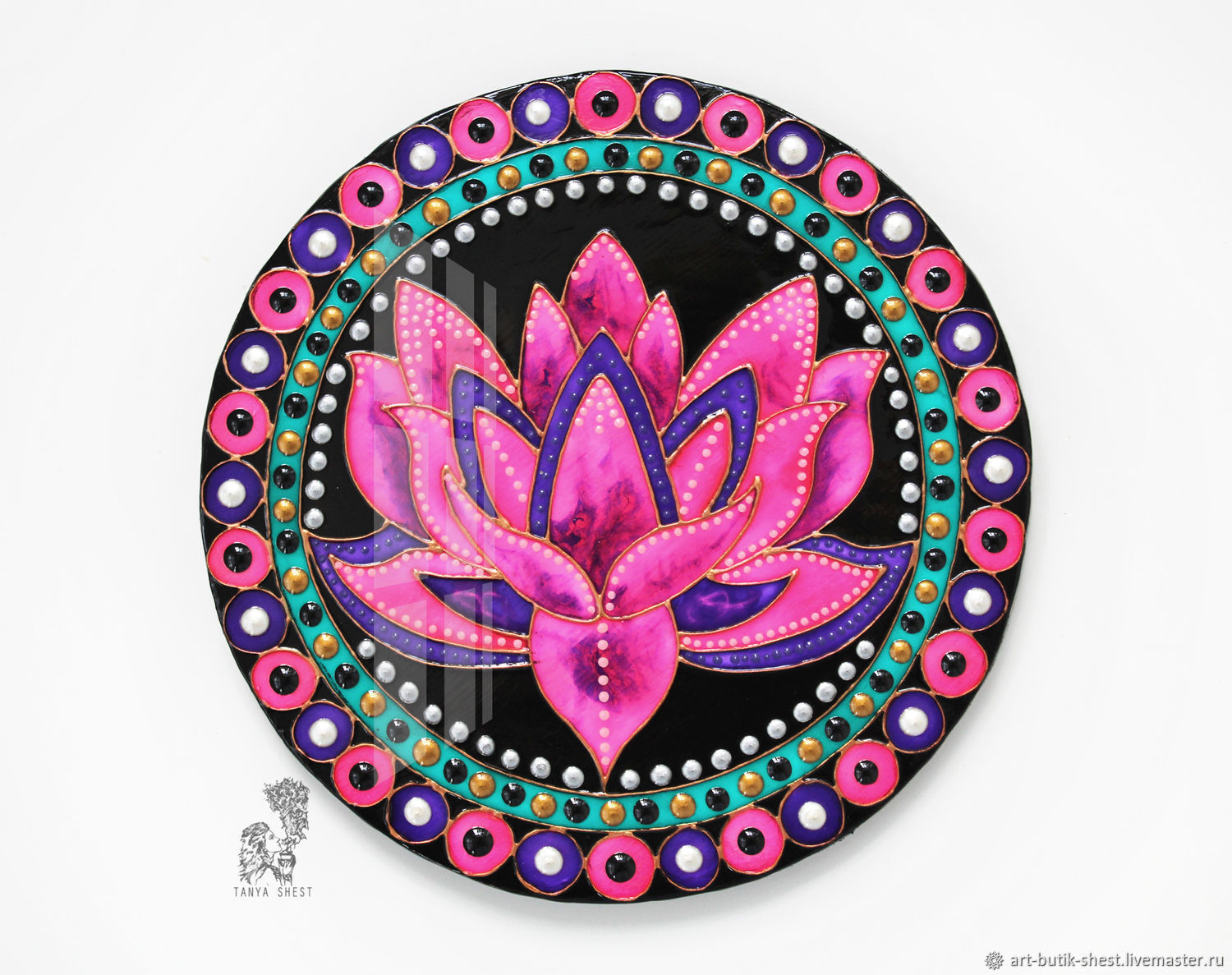 'Lotus ' large round picture in modern style, Pictures, Krasnodar,  Фото №1