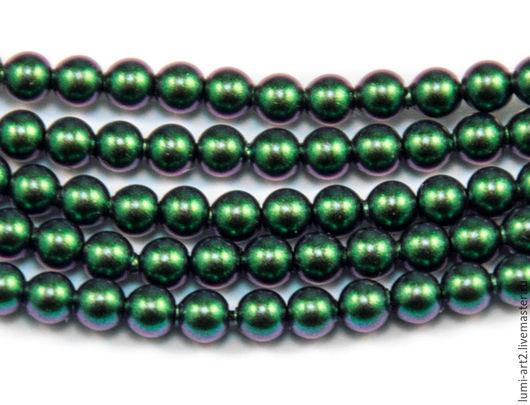 Для украшений ручной работы. Ярмарка Мастеров - ручная работа. Купить 3мм Scarabaeus Green Жемчуг Сваровски Swarovski Perl 40 шт. Handmade.