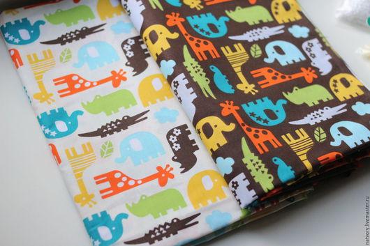 """Шитье ручной работы. Ярмарка Мастеров - ручная работа. Купить Ткань смесовая """"Животные Африки"""". Handmade. Ткань для рукоделия"""