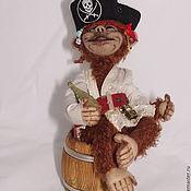 Куклы и игрушки handmade. Livemaster - original item Monkey Teddy. Pirate.. Handmade.
