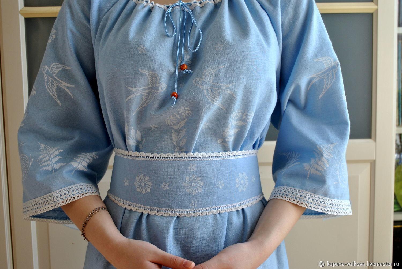 Boho linen long dress 'fairy Tale' blue, Dresses, Anapa,  Фото №1