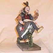 Куклы и игрушки ручной работы. Ярмарка Мастеров - ручная работа Баба-Яга велосипедистка из леса. Handmade.