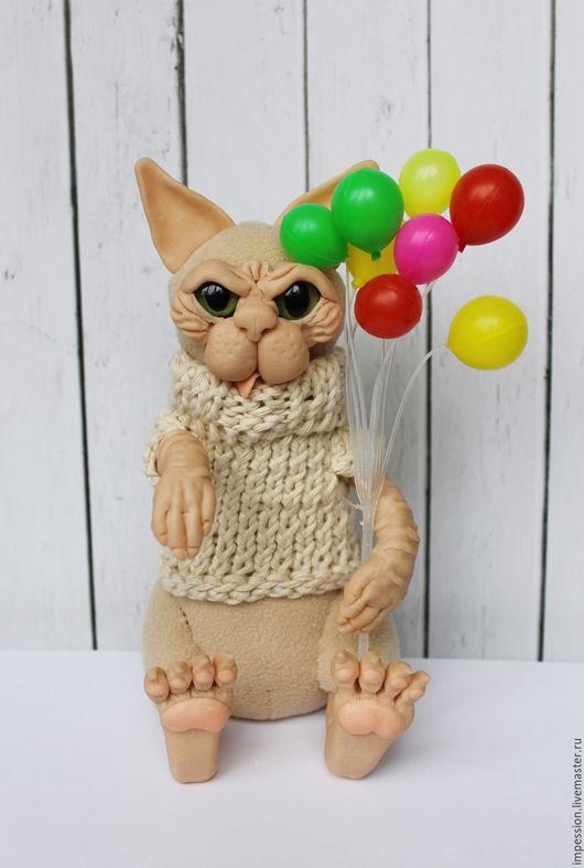 Игрушки животные, ручной работы. Ярмарка Мастеров - ручная работа. Купить Кот сфинкс Крюгер (авторская игрушка). Handmade. Кот