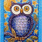 Картины и панно ручной работы. Ярмарка Мастеров - ручная работа Сова на ветке  Картина для интерьера. Handmade.