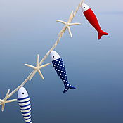 Для дома и интерьера ручной работы. Ярмарка Мастеров - ручная работа Морская гирлянда. Handmade.