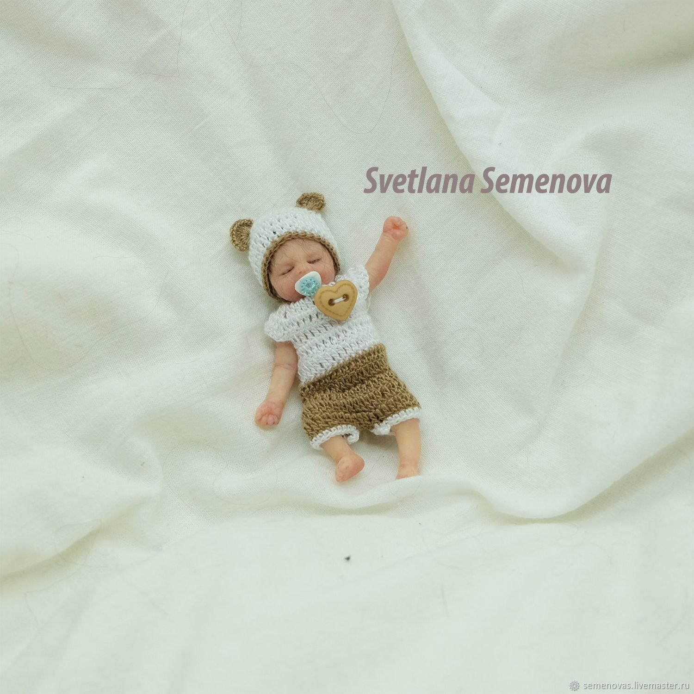 Полностью силиконовый малыш 7,5 см, Куклы Reborn, Москва,  Фото №1