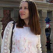 Одежда handmade. Livemaster - original item Crochet sweater with felting. Handmade.