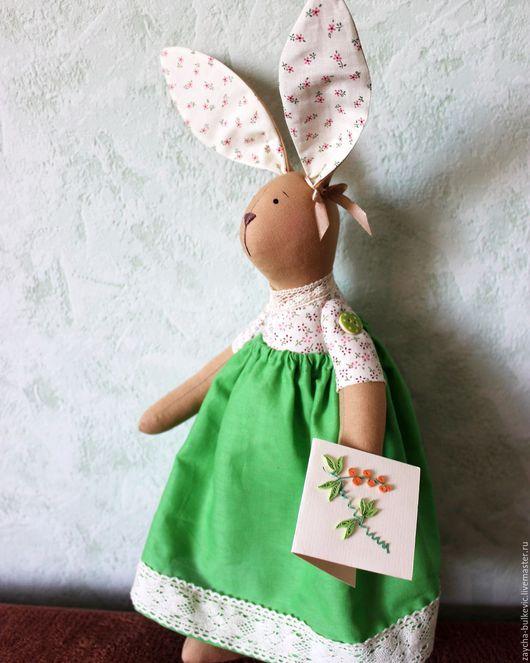 Куклы Тильды ручной работы. Ярмарка Мастеров - ручная работа. Купить Зайка Мелисса. Handmade. Комбинированный, заяц тильда большой