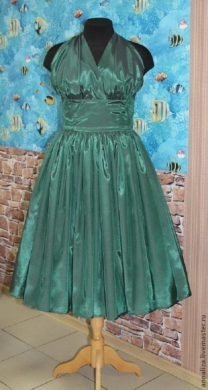 """Платья ручной работы. Ярмарка Мастеров - ручная работа. Купить Пплатье в стиле 60-х """"Вечерний изумруд"""". Handmade."""
