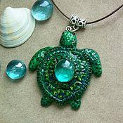 """Украшения ручной работы. Ярмарка Мастеров - ручная работа Кулон """"Морская черепаха"""". Handmade."""