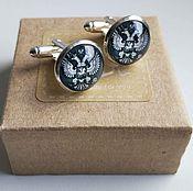 Украшения handmade. Livemaster - original item Cufflinks silver Emblem of the Russian Federation. Handmade.