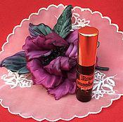 """Косметика ручной работы. Ярмарка Мастеров - ручная работа """" Zucchero rose """" духи натуральные и брошь из шелка. Handmade."""