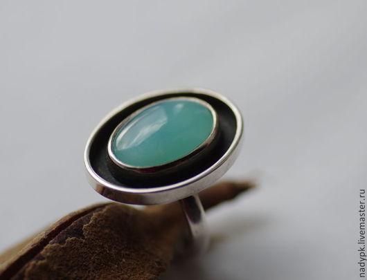 """Кольца ручной работы. Ярмарка Мастеров - ручная работа. Купить Кольцо с голубым опалом """"Лагуна"""", перуансктий опал, серебро. Handmade."""