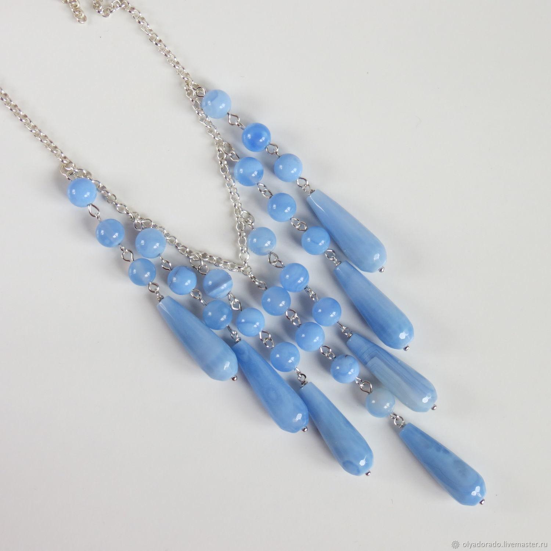 Necklace sapphirine ice Blue, Pendants, Moscow,  Фото №1