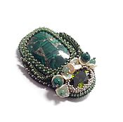 Украшения handmade. Livemaster - original item Brooch of malachite