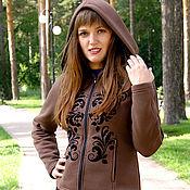 Одежда handmade. Livemaster - original item Women`s hoodie, brown boho hoodie with zipper. Handmade.