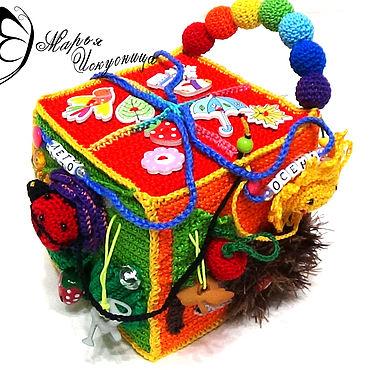 """Куклы и игрушки ручной работы. Ярмарка Мастеров - ручная работа Развивающий кубик """"Времена года"""". Handmade."""
