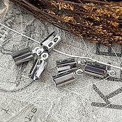 Материалы для творчества handmade. Livemaster - original item 10 PCs. End clamp for cords 10x4x4. 3200 mm STEEL (). Handmade.