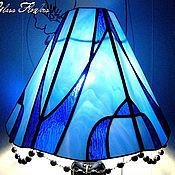 Для дома и интерьера handmade. Livemaster - original item Stained glass Lamp with Agate. Handmade.