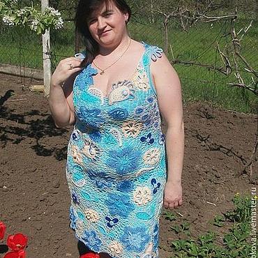 Одежда ручной работы. Ярмарка Мастеров - ручная работа Платье вязаное Цветение. Handmade.