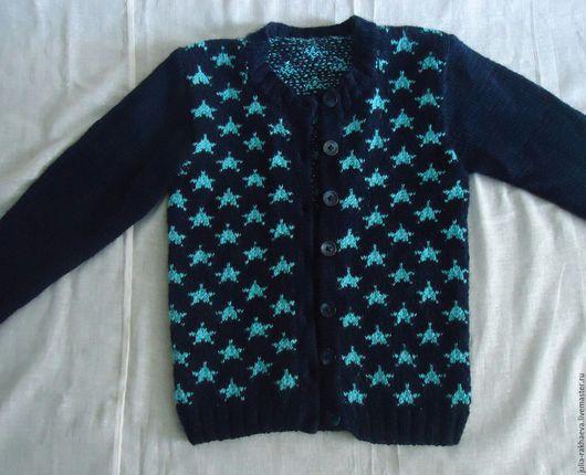 """Одежда для девочек, ручной работы. Ярмарка Мастеров - ручная работа. Купить Кофта """"Звёздное небо"""". Handmade. Бирюзовый, звезды"""