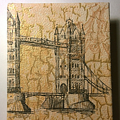 """Канцелярские товары ручной работы. Ярмарка Мастеров - ручная работа Блокнот """"Солнечный Лондон"""". Handmade."""