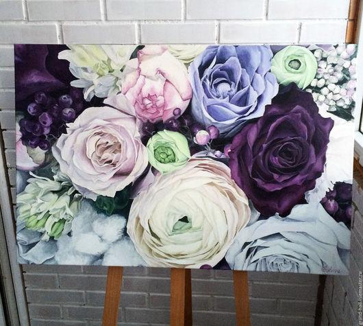 Картины цветов ручной работы. Ярмарка Мастеров - ручная работа. Купить Картина маслом Ноты души, размер 60х90 см. Handmade.