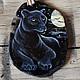 """Кулоны, подвески ручной работы. Ярмарка Мастеров - ручная работа. Купить Кулон из агата """"Ночной страж"""". Handmade. Черный, кошка"""