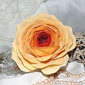 """Украшения ручной работы. Ярмарка Мастеров - ручная работа """"Чайная роза"""" Резинка для волос. Handmade."""