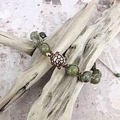handmade. Livemaster - original item Green quartz bracelet with turtle. Handmade.
