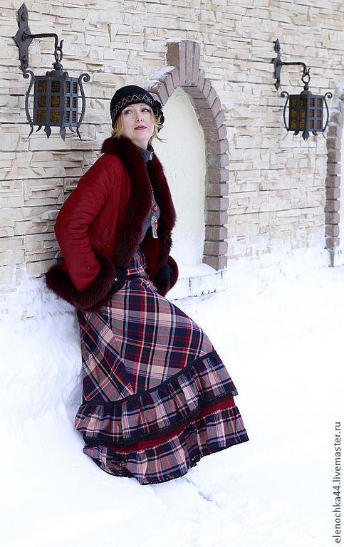 """Юбки ручной работы. Ярмарка Мастеров - ручная работа. Купить Длинная теплая юбка """"Вальс-бостон"""". Handmade. Длинная юбка"""